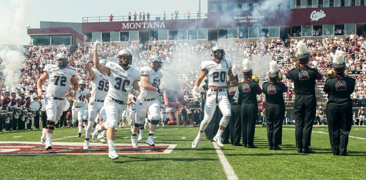 Griz Football Players Entering the Stadium