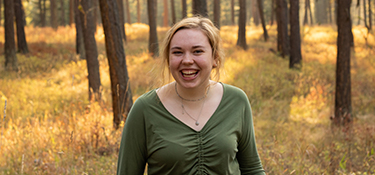Libby Riddle, wildlife biology student and Student Success Scholarship recipient